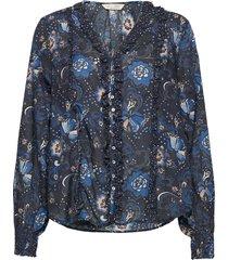 doreen blouse blouse lange mouwen blauw odd molly