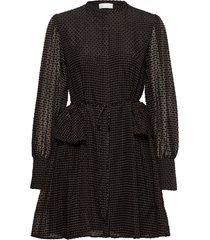 rosa, 696 velvet devore korte jurk zwart stine goya