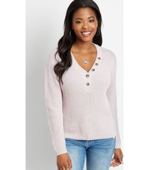 maurices womens henley pullover sweater purple