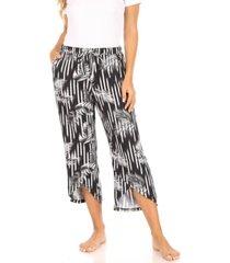 tahari women's capri wrap front sleep pant