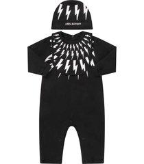 neil barrett black suit for babyboy with white thundres