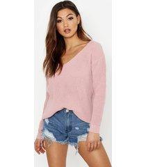 oversized v neck sweater, blush