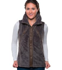 chaqueta mujer flight vest gris oscuro kuhl