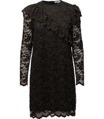 flynn lace korte jurk zwart ganni