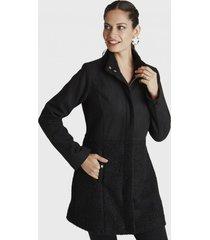 abrigo manga larga cuello alto negro curvi