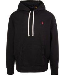 ralph lauren man black rl hoodie