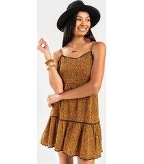 jodey animal print mini dress - leopard