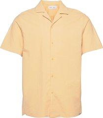 einar sx shirt 11389 kortärmad skjorta gul samsøe samsøe