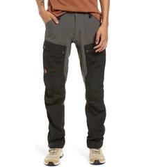 men's fjallraven keb trekking pants, size 37 us/ 54 eu - grey