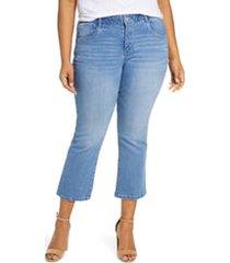 plus size women's wit & wisdom high waist flare jeans, size 22w - blue (plus size) (nordstrom exclusive)