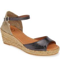 women's toni pons llivia wedge sandal, size 11us - grey
