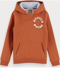 scotch & soda two-tone long sleeve hoodie