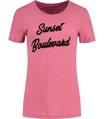 t-shirt sunset roze