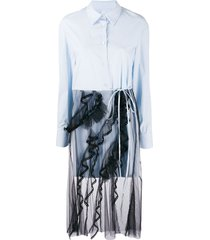 act n°1 long tulle shirt - blue