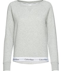 top sweatshirt long night & loungewear sweat-shirts grijs calvin klein