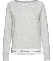 top sweatshirt long lingerie night & loungewear sweat-shirts grijs calvin klein
