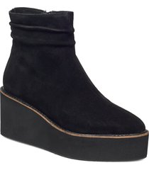 gaia s shoes boots ankle boots ankle boot - heel svart shoe the bear