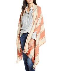 women's madewell twill stripe cape scarf
