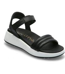sporty 5a shoes summer shoes flat sandals svart marc o'polo