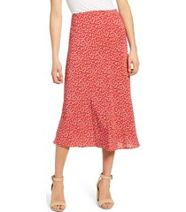 women's rails anya print midi skirt, size x-small - red