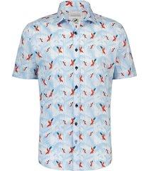 overhemd papegaai licht blauw