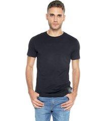camiseta azul navy calvin klein