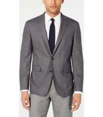 cole haan men's grand. os wearable technology slim-fit stretch gray tic sport coat