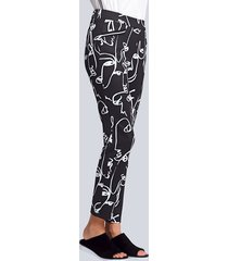 broek alba moda zwart::wit