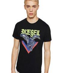 polera t diego a4 t shirt negro diesel