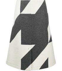boss hugo boss star print a-line skirt - grey