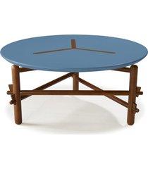 mesa de centro twist 761 cacau/azul - maxima