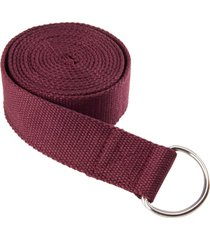 everyday yoga 8 foot strap d-ring merlot cotton/polyester