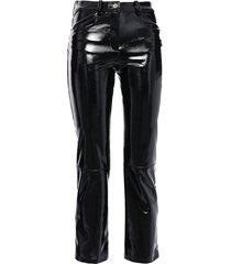 paveli cropped stretch-vinyl slim-leg pants