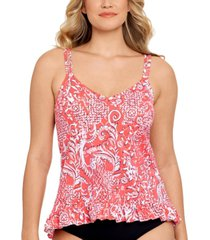 swim solutions mix it up tankini top, created for macy's women's swimsuit