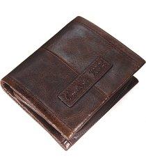 moneta staccabile borsa degli uomini del portafoglio d'annata 5 del raccoglitore di affari vera pelle per gli uomini