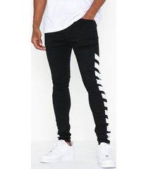 sixth june denim jeans svart/vit