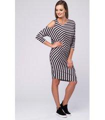 sukienka asymetryczna stripes look