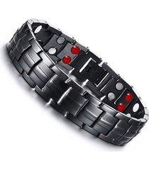 pulsera magnetica hombres germanio acero inoxidable st053