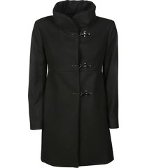 fay high neck toggle coat