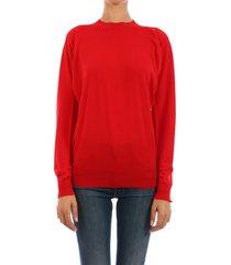 bottega veneta wool sweater red