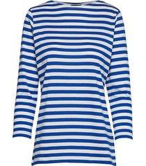 ilma shirt t-shirts & tops long-sleeved blauw marimekko