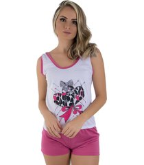 baby doll linha noite pink