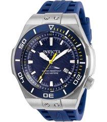 reloj invicta azul oscuro modelo 256nh para hombres, colección pro diver
