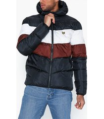 lyle & scott colour block puffa jacket jackor dark navy