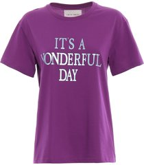 alberta ferretti its a wonderful day purple t-shirt