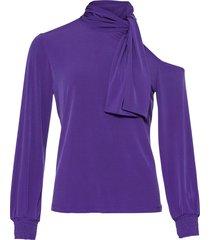 bellissima maglia con cut-out (viola) - bodyflirt