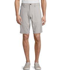projek raw men's gusset-detail longline shorts - grey - size 38