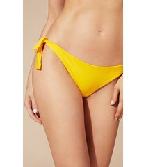 calzedonia indonesia tie brazilian bikini bottoms woman yellow size 4