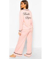 jersey bride squad pyjama set, blush