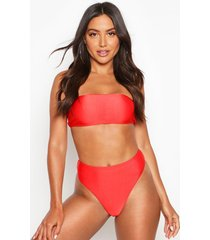 mix & match high waisted bikini brief, red